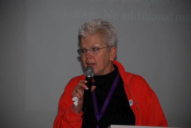 Sandie Kiehle, new VP, speaks at the business meeting.docx
