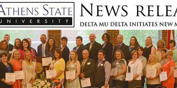 Athens State University Delta Mu Delta Initiates New Members